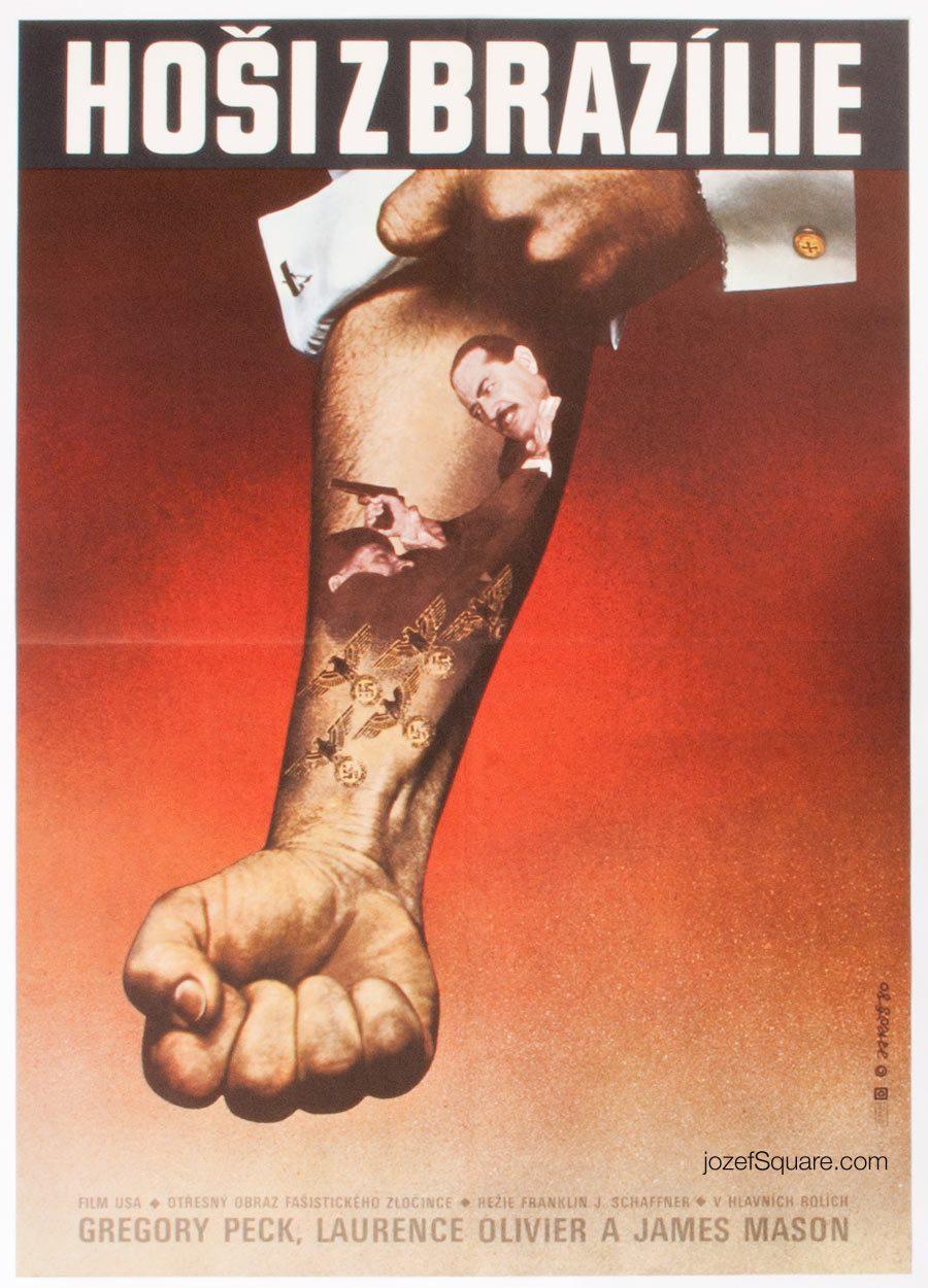 Movie Poster, The Boys from Brazil, 80s Cinema Art