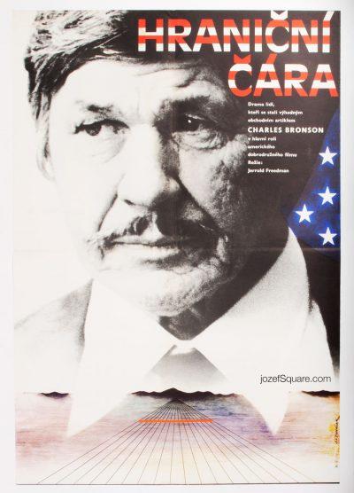 Borderline Movie Poster, Charles Bronson, 80s Cinema Art