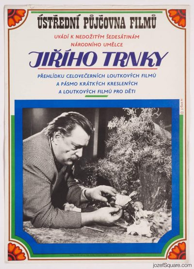 Movie Poster, Movies of Jiri Trnka, 70s Cinema Art