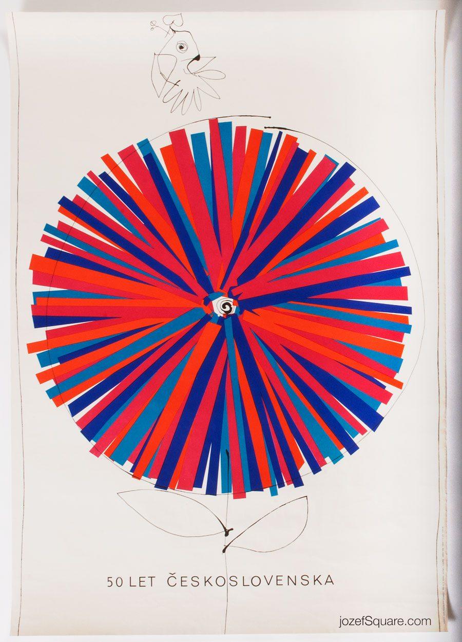 Anniversary Poster, 50 Years of Czechoslovakia, Josef Flejsar