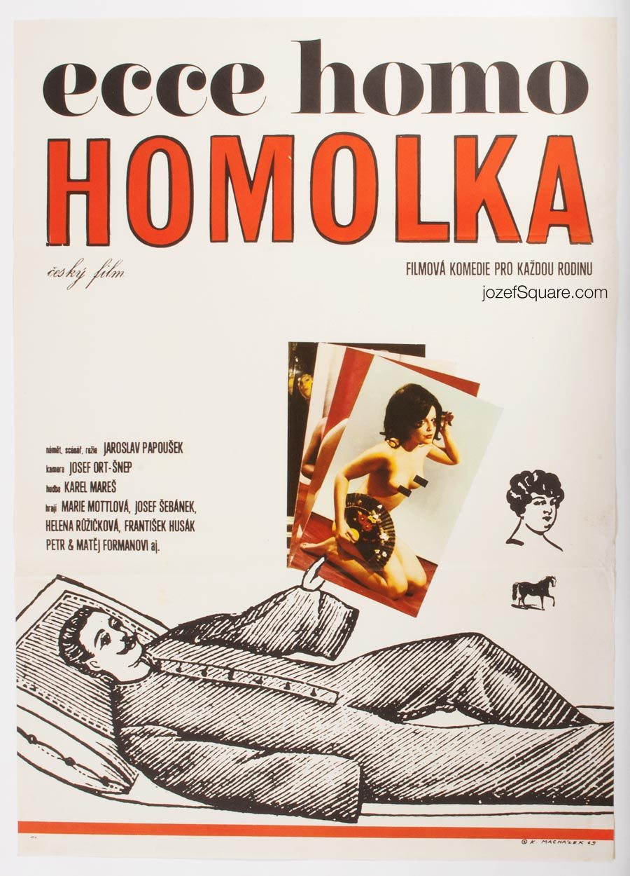 Behold Homolka Movie Poster, Karel Machalek, 60s Cinema Art