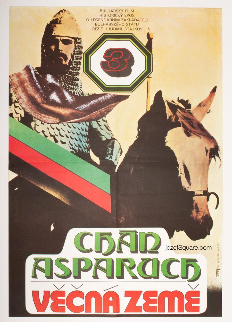 Movie Poster, Khan Asparuh 3, Karel Vaca