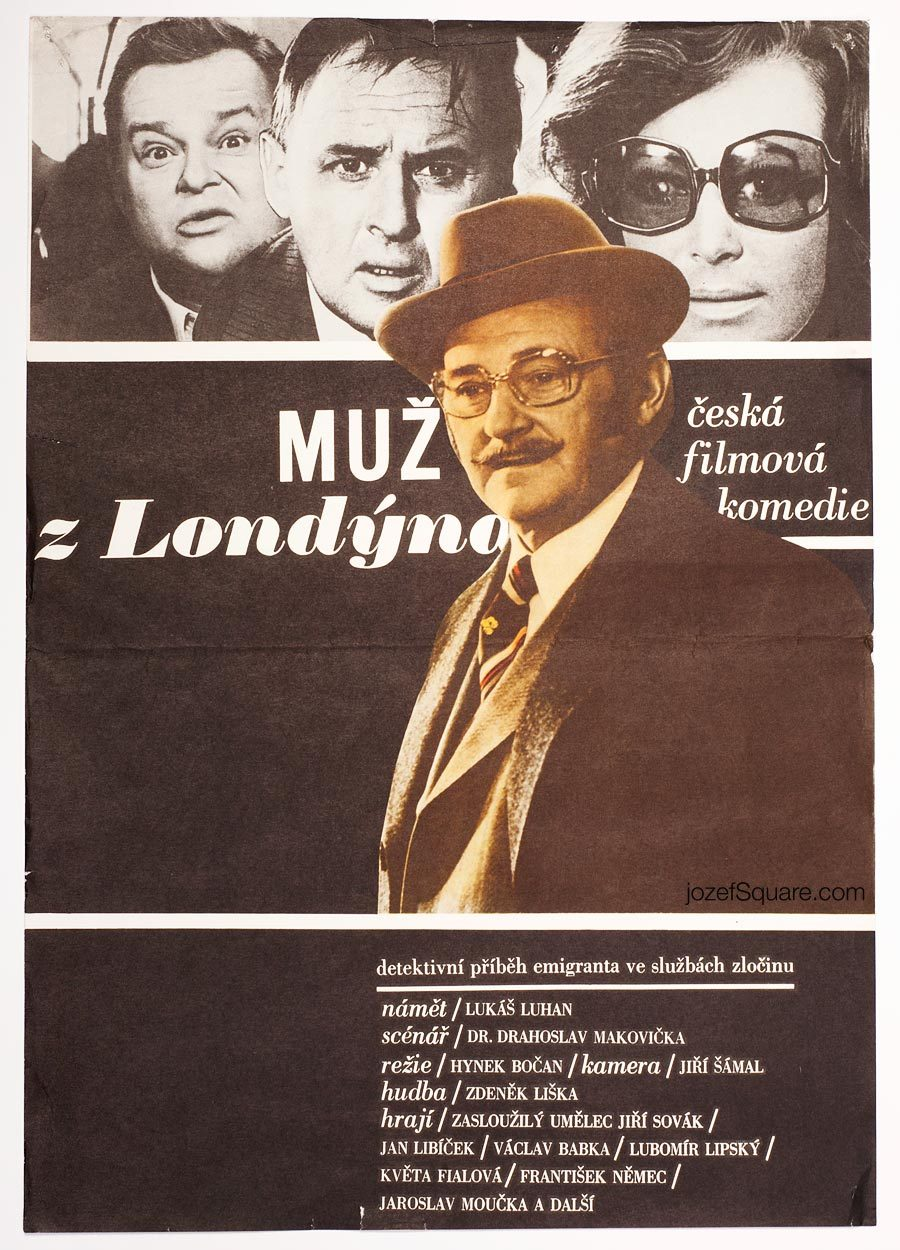 Movie Poster, The Man from London, 70s Cinema Art