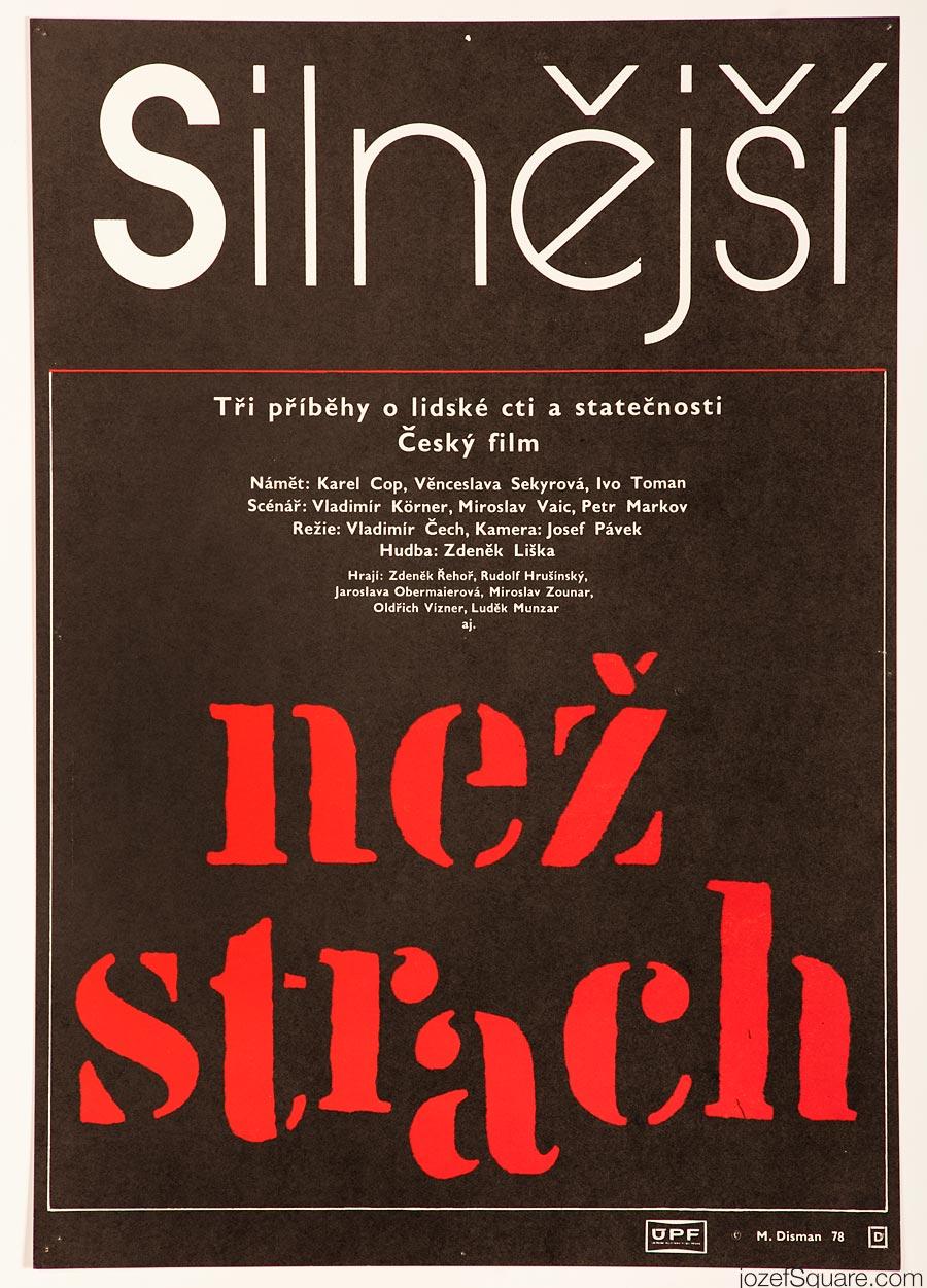 Movie Poster, Stronger than Fear, Miloslav Disman