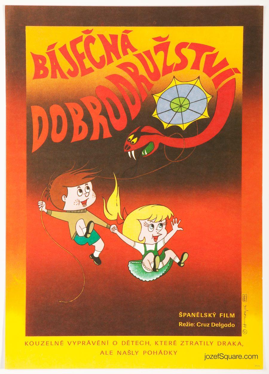 Movie Poster, Magic Adventure, 70s Cinema Art