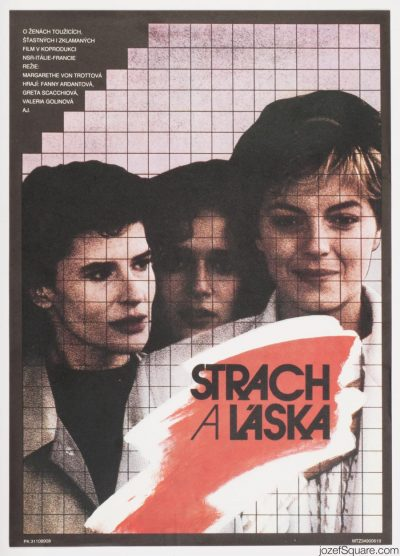 Movie Poster, Three Sisters, 80s Cinema Art