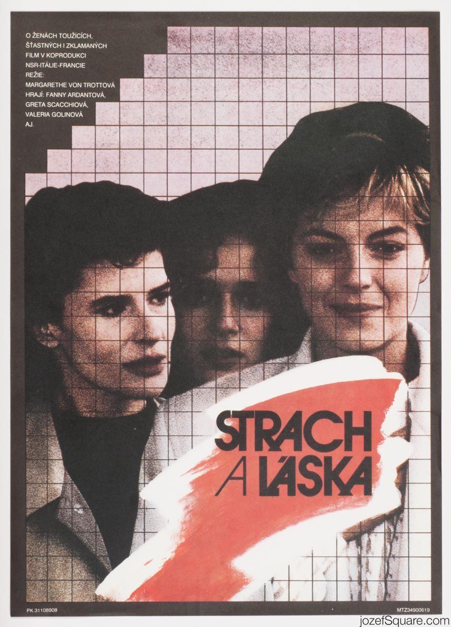 Movie Poster, Three Sisters, 80s Cinema Art