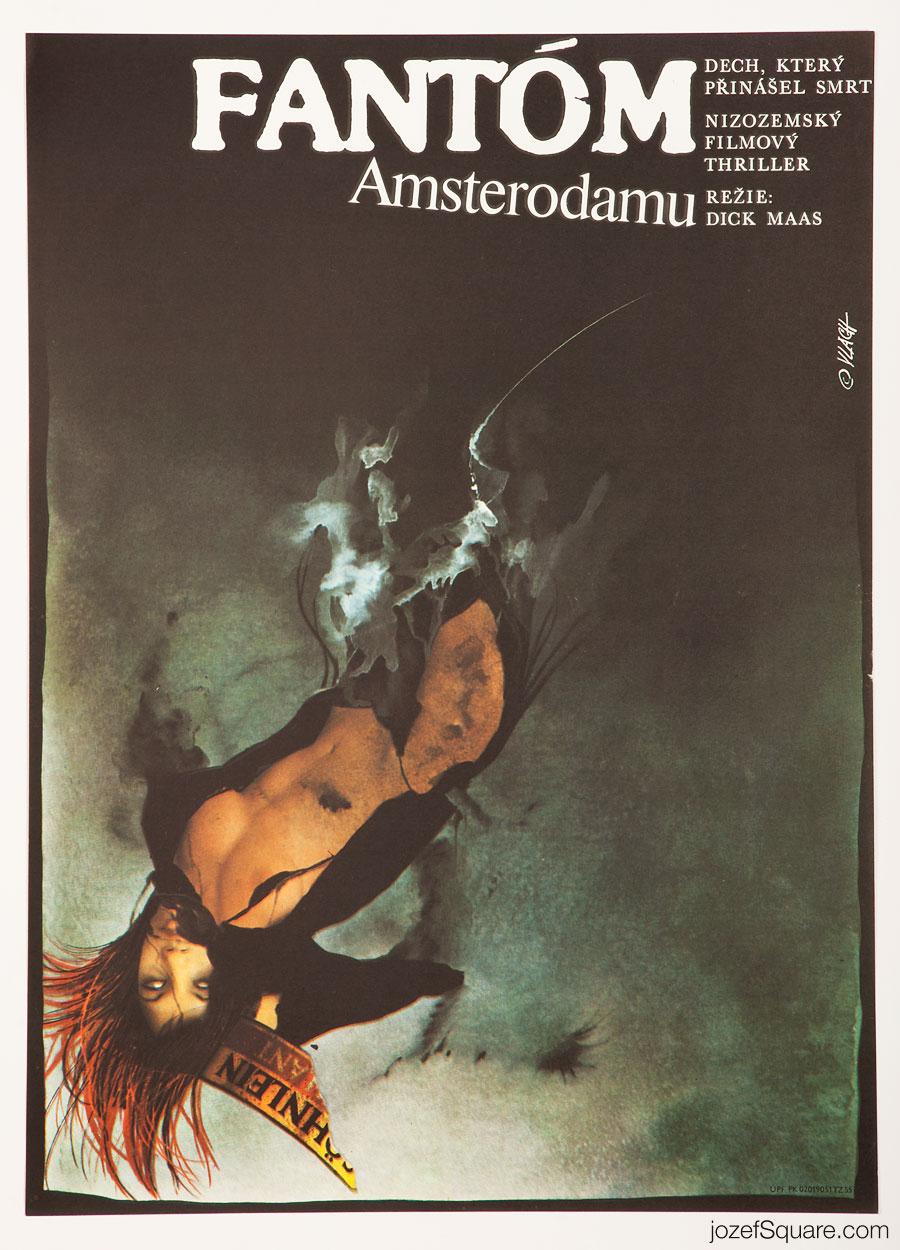 Movie Poster, Amsterdamned, 80s Cinema Art
