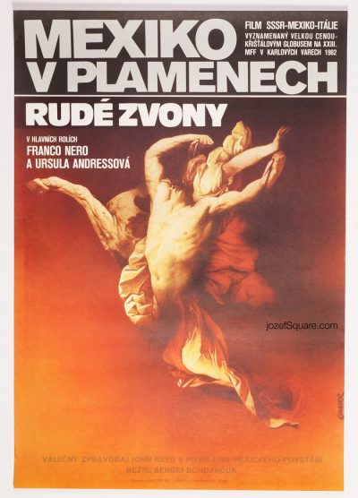 Surreal Movie Poster, Mexico in Flames, Zdenek Vlach