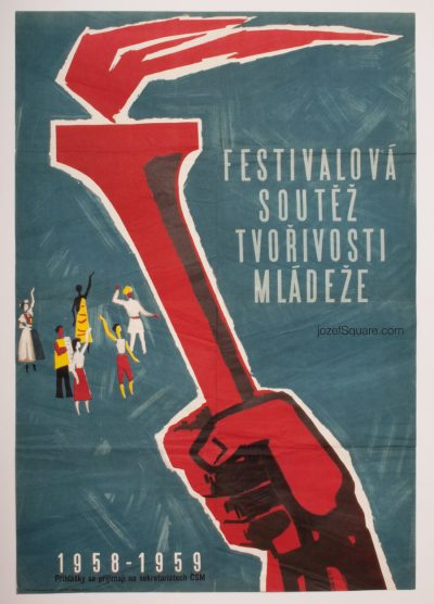 50s Propaganda Poster, Art Competion, Eduard Hajek