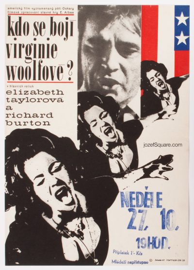 Movie Poster, Who's Afraid of Virginia Woolf, Frantisek Zalesak