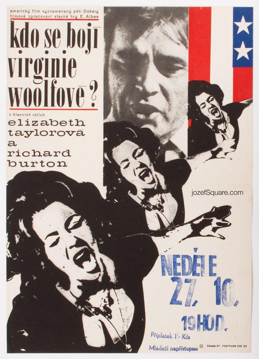 Movie Poster, Who's Afraid of Virginia Woolf, Frantisek Zalesak