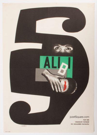 Movie Poster, Alibi, Jan Kubicek, 60s Cinema Art