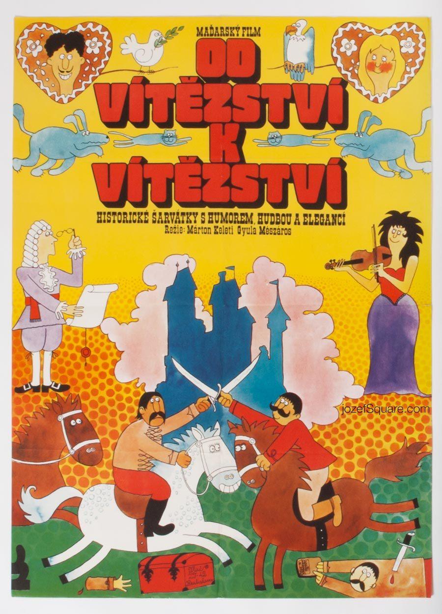 Movie Poster, Palko Csinom, 70s Cinema Art