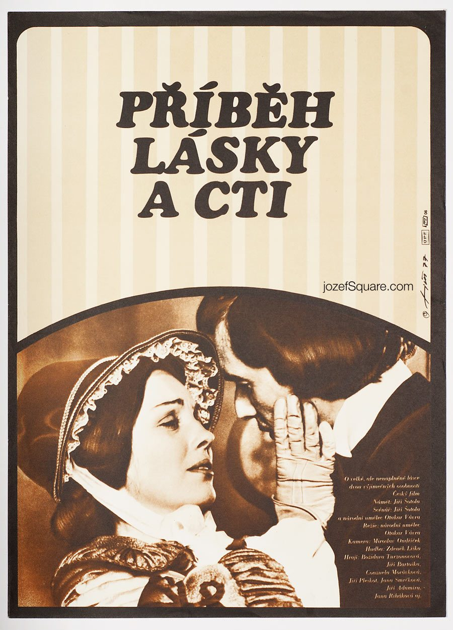 Movie Poster, A Story of Love and Honour, 70s Cinema Art