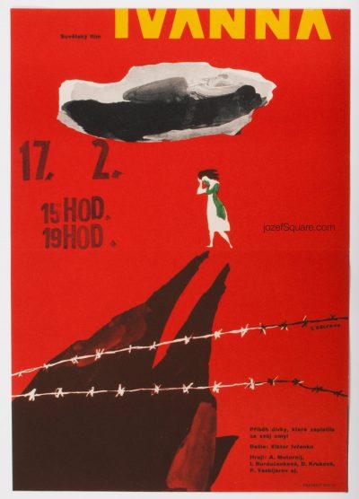Movie Poster, Ivanna, Jaroslav Zelenka, 60s Cinema Art