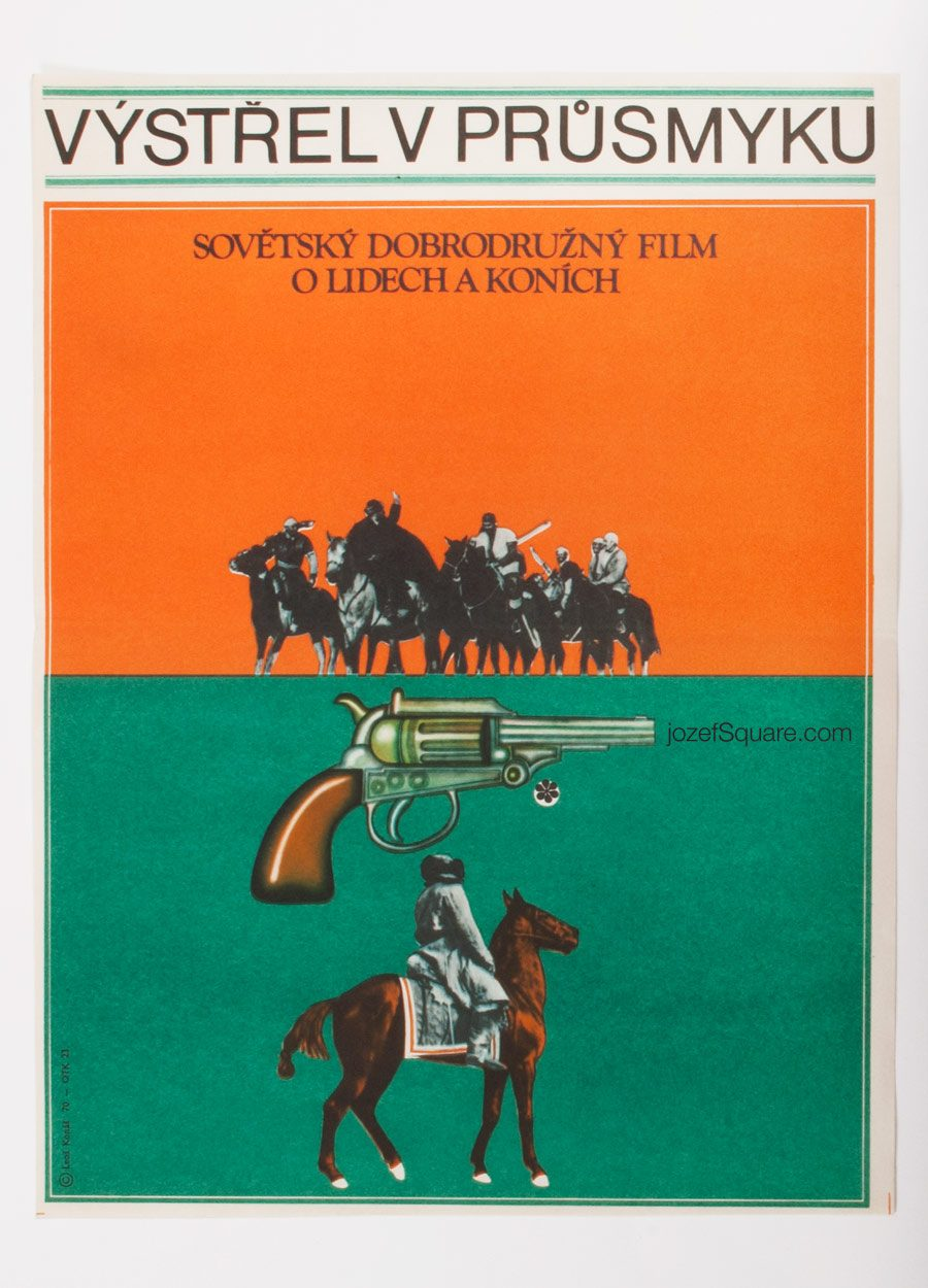 Movie Poster, Gunshot in Karash Pass, 70s Cinema Art