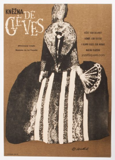 Movie Poster, Princess of Cleves, Milos Reindl, 60s Cinema Art