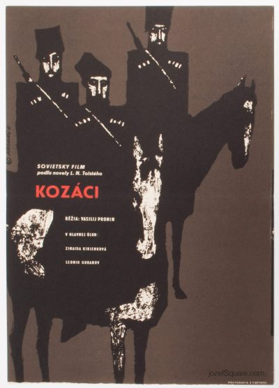 Movie Poster, The Cossacks, Milos Reindl, 60s Cinema Art