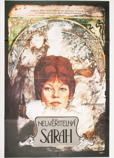 Movie Poster, The Incredible Sarah, Glenda Jackson, 70s Cinema Art