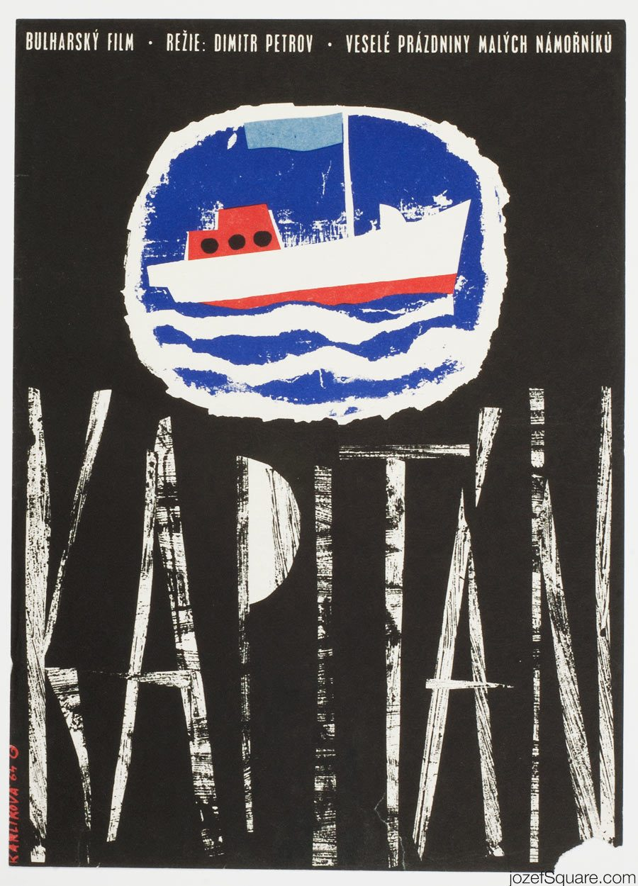 Movie Poster, The Captain, 60s Cinema Art