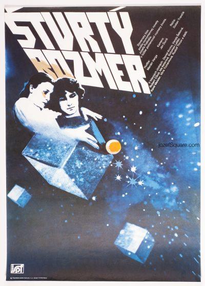 Movie Poster, The Fourth Dimension, 80s Cinema Art