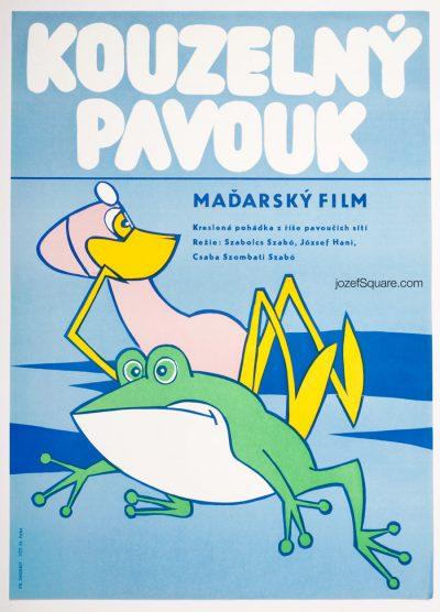 Movie Poster, Water Spider, Wonder Spider, 80s Cinema Art