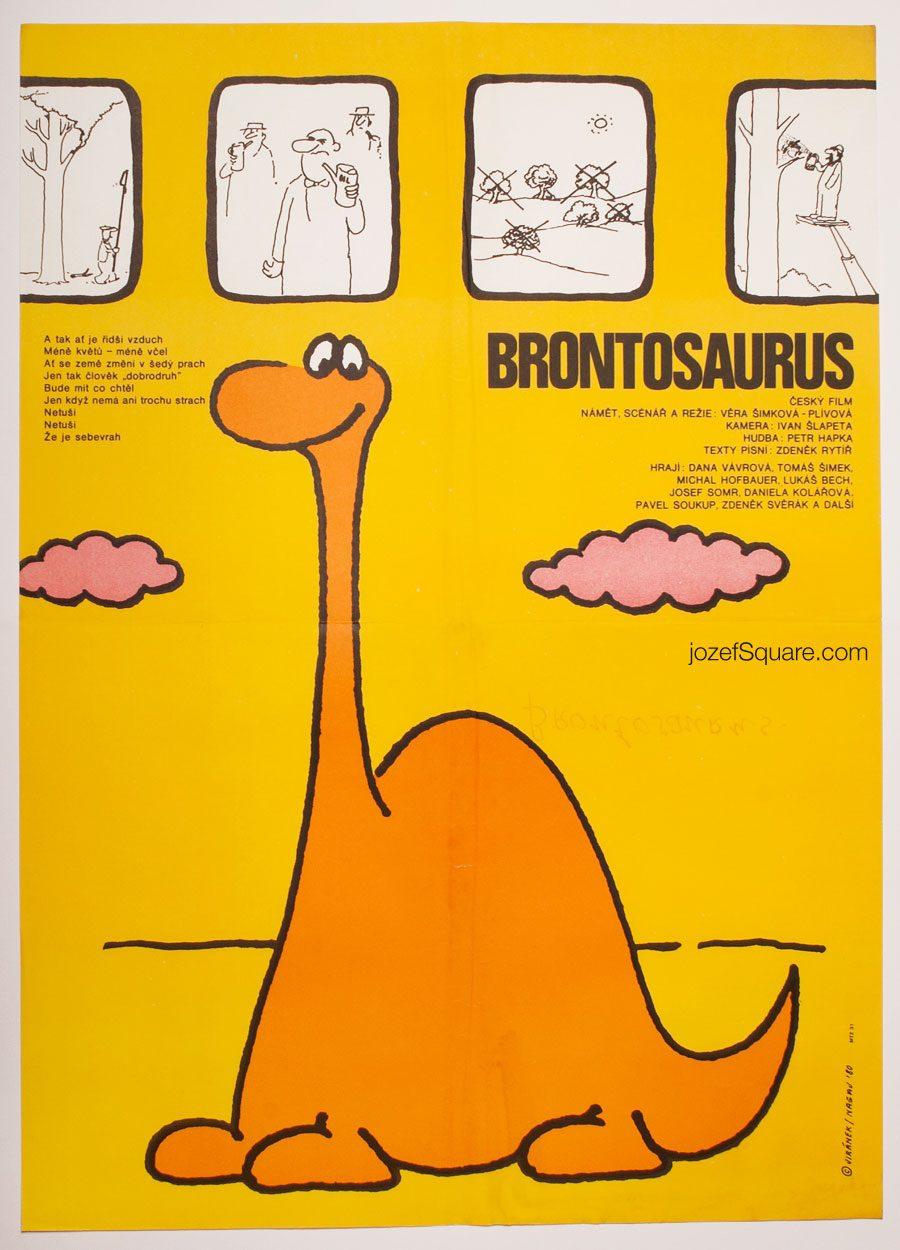 Movie Poster, Brontosaurus, Vladimir Jiranek