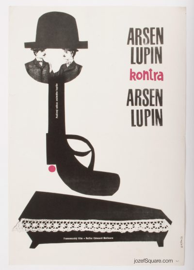 Movie Poster, Arsene Lupin, 60s Cinema Art