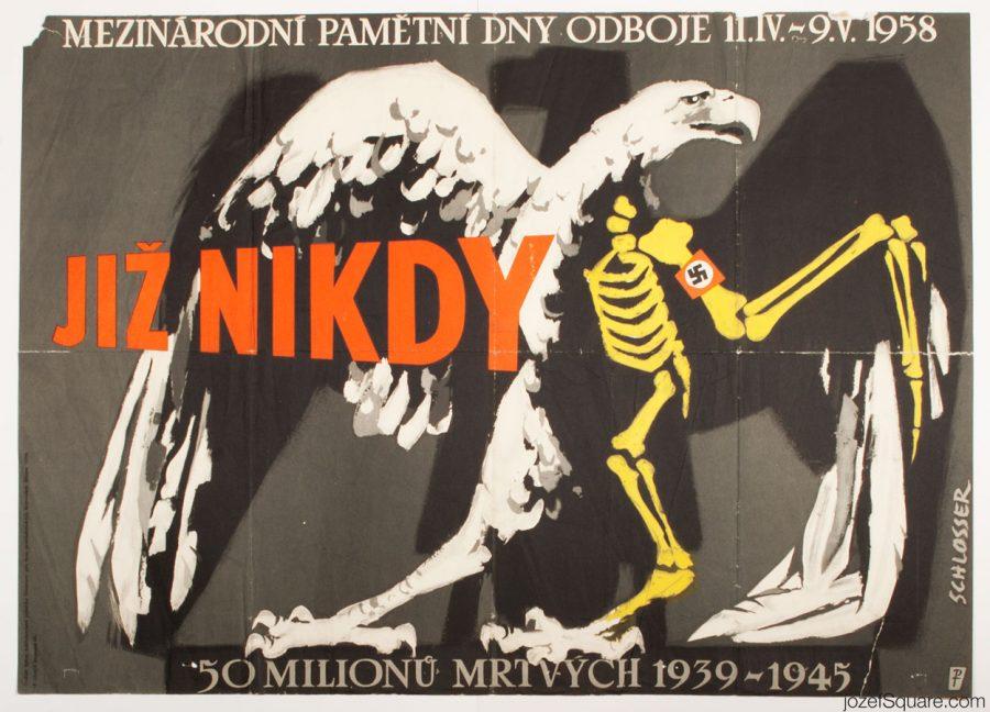 Anti War Propaganda, W.A. Schlosser, 50s Poster Art