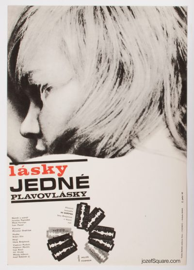 Loves of Blondes Movie Poster, Milos Forman, 60s Cinema Art