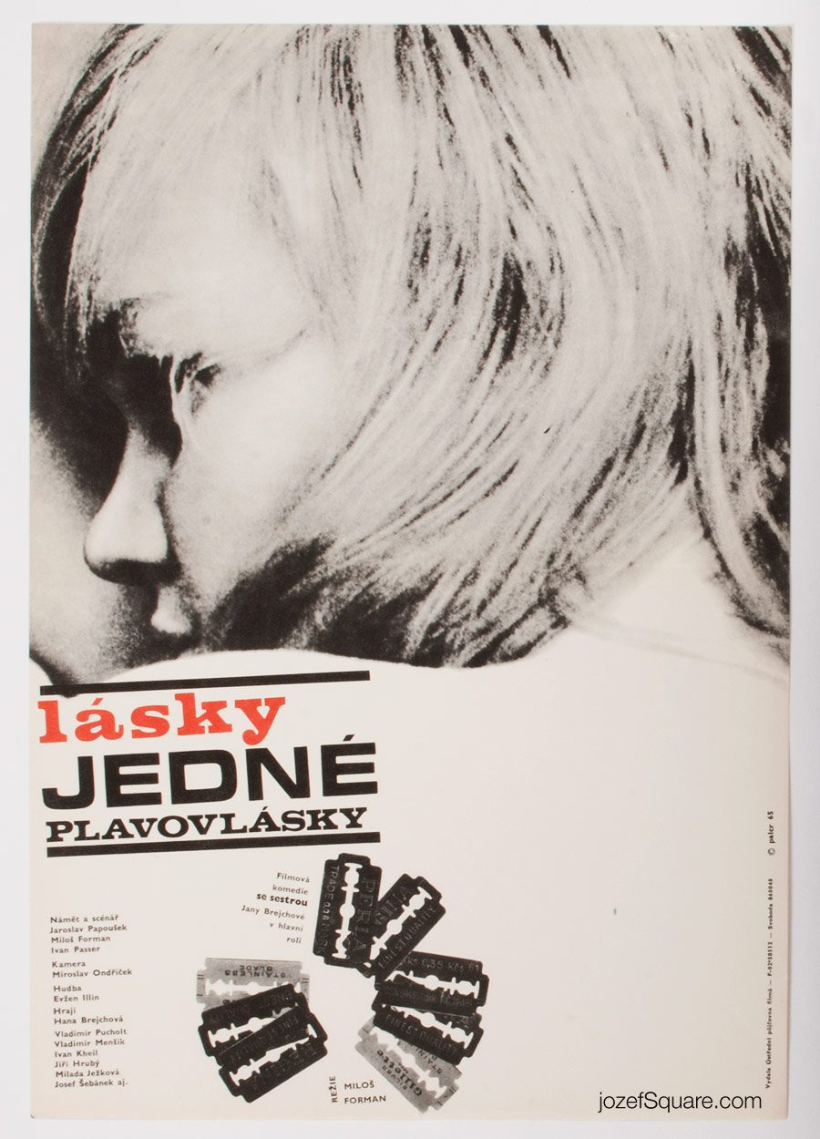 Loves of Blondes Movie Poster, Milos Forman, 60s Cinema Art