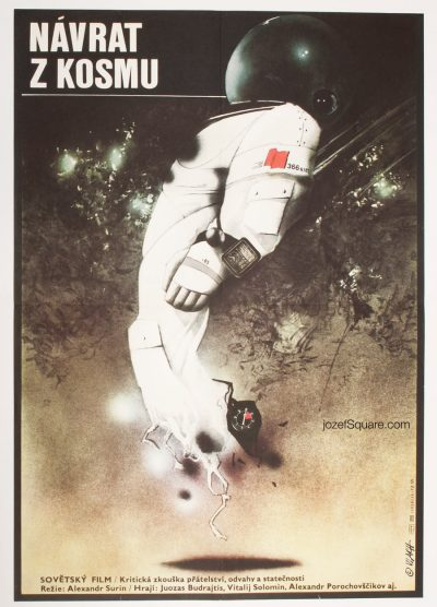 Sci-fi Movie Poster, Return from Orbit, Zdenek Vlach