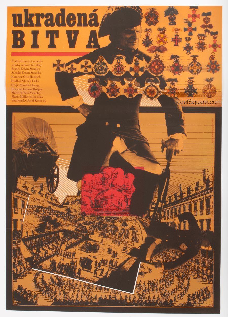 Movie Poster, The Stolen Battle, Zdenek Ziegler