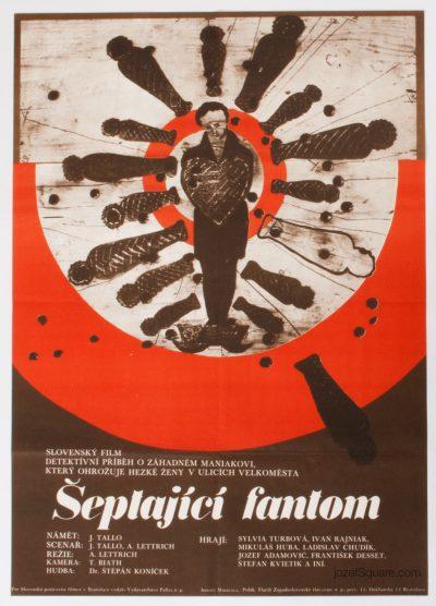 Movie Poster, The Whispering Phantom, 70s Cinema Art