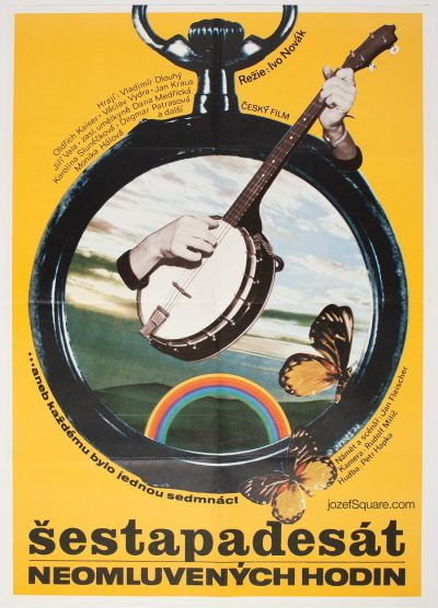 Movie Poster, Fifty-six Hours of Truancy, 70s Cinema Art