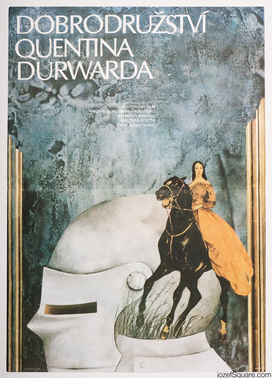Movie Poster, Adventures of Quentin Durward, Hana Hejzlarova
