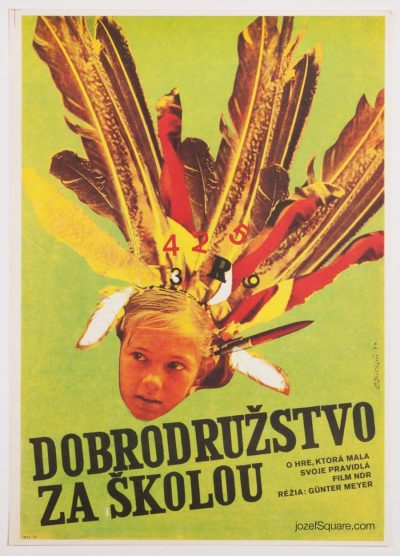 Movie Poster, Adventure Behind the School, 70s Cinema Art
