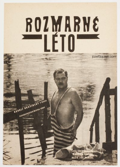Movie Poster, Capricious Summer, Jiri Menzel, 60s Cinema Art