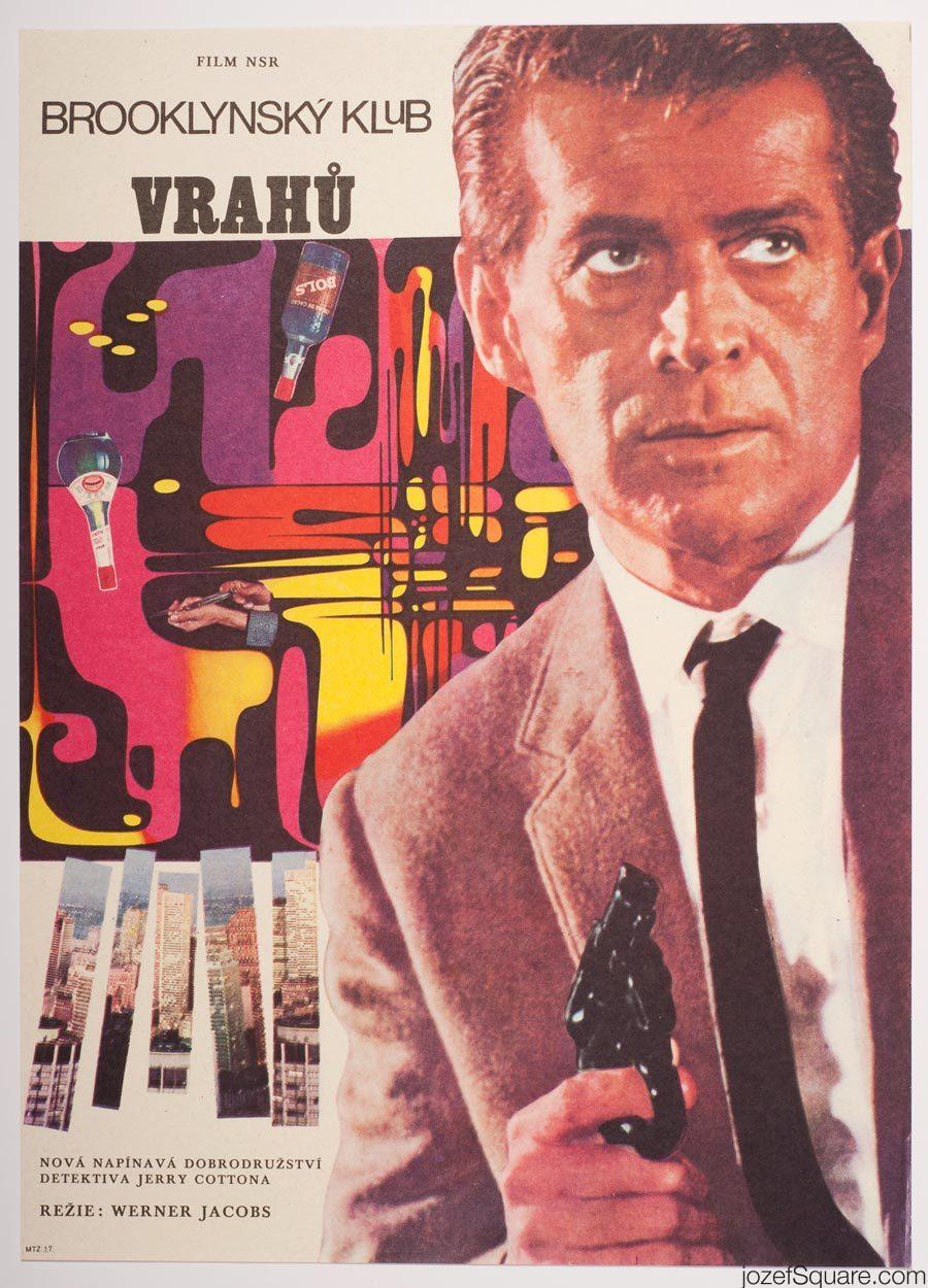 Movie Poster, Murderers Club of Brooklyn, 70s Cinema Art