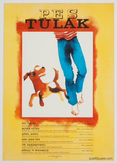 Movie Poster, Dog Wanderer, 70s Children Cinema Art