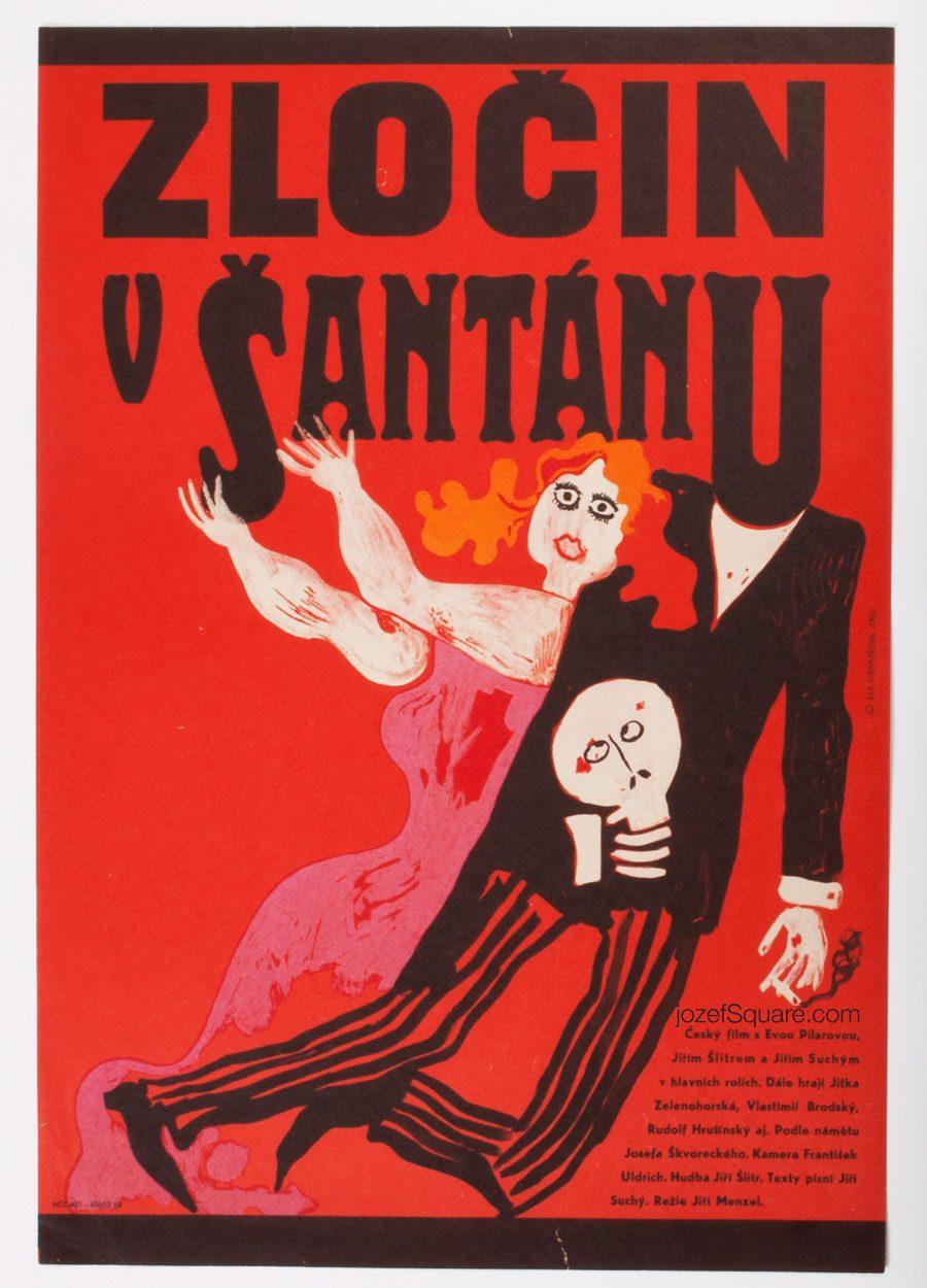 Movie Poster, Crime in the Night Club, Eva Galova-Vodrazkova