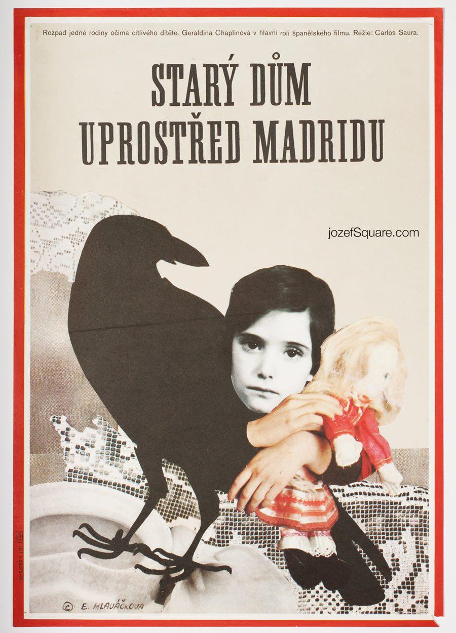 Movie Poster, Cria Cuervos, 70s Cinema Art
