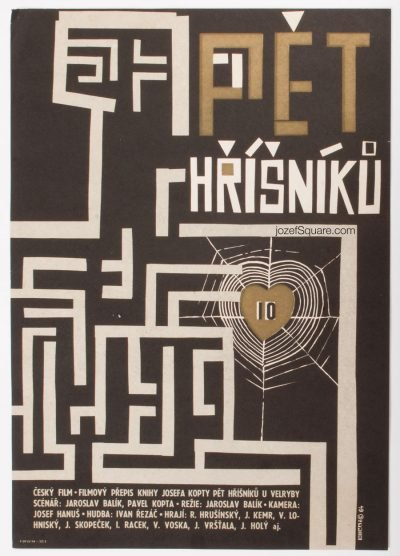 Movie Poster, Five Sinners, Jiri Hilmar