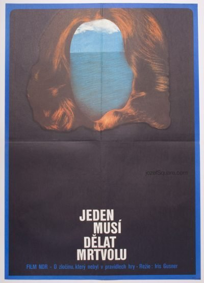 Movie Poster, Somebody's got to be the Corpse, 70s Cinema Art