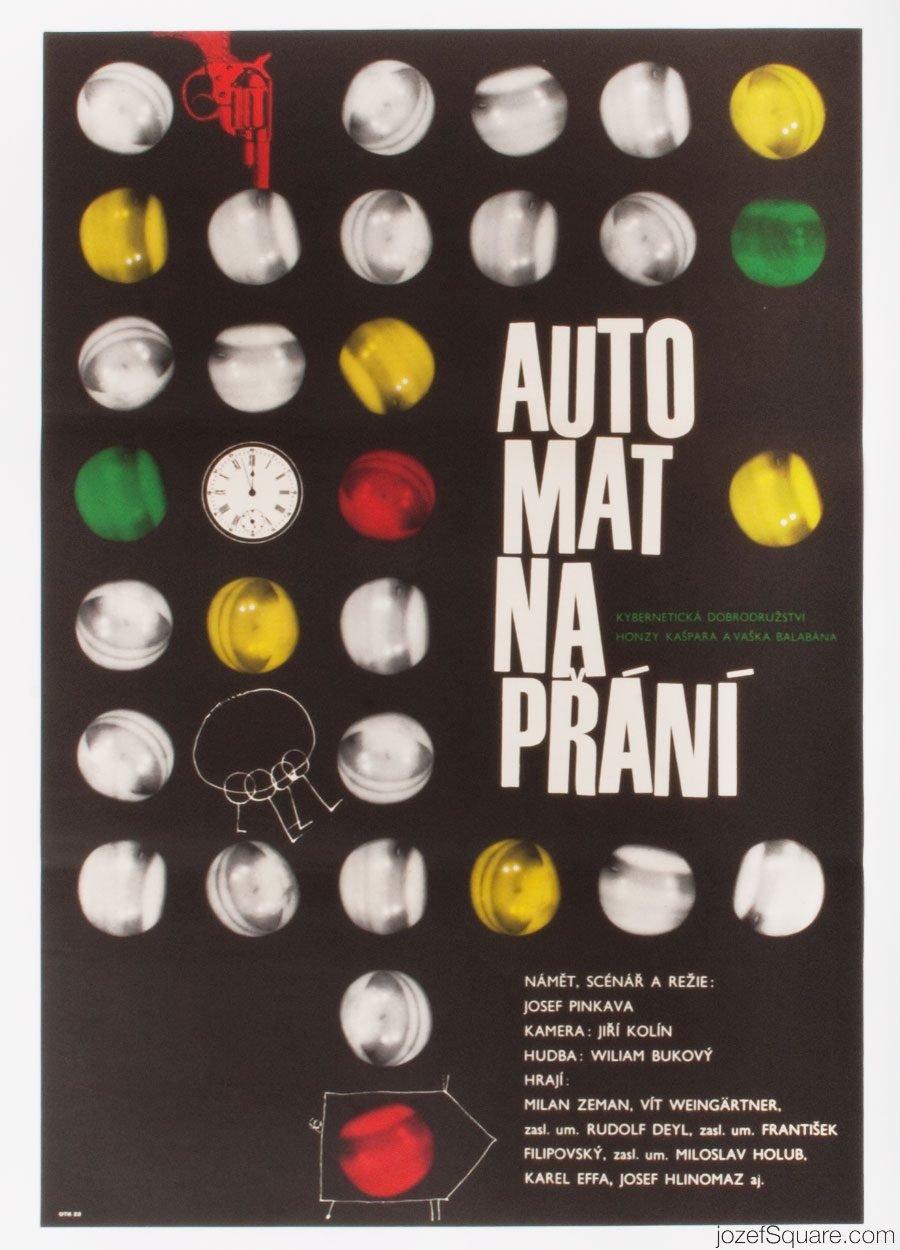 Movie Poster, The Wishing Machine, 60s Cinema Art