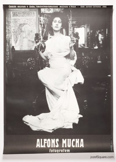Exhibition Poster, Alfons Mucha as Photographer, 80s Photography Show