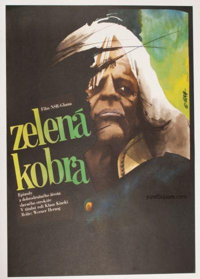 Cobra Verde Movie Poster, Werner Herzog, Zdenek Vlach