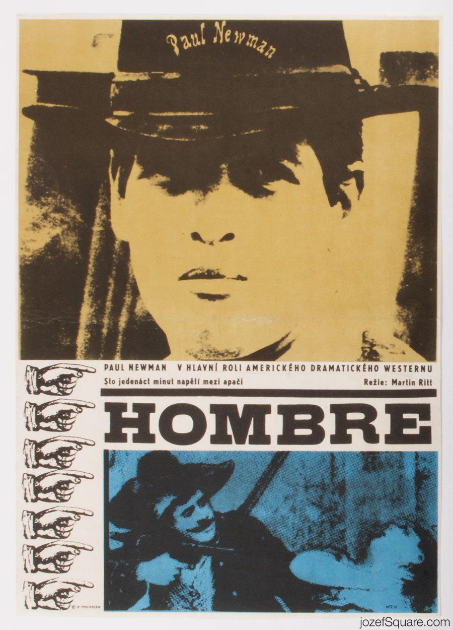 Movie Poster, Hombre, Karel Machalek