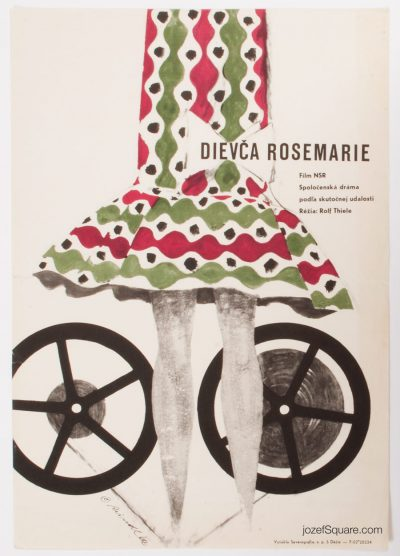 Movie Poster, The Girl Rosemarie, Milos Reindl